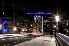 Noc widoku Londyn most Zdjęcia Royalty Free