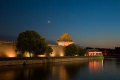 noc wieża obserwacyjna obraz stock