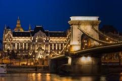 noc z budapesztu zdjęcia royalty free