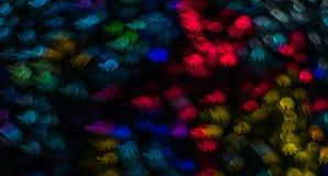 Noc zaświeca bokeh żółwia kształt, defocused bokeh światła, zamazujący Fotografia Royalty Free