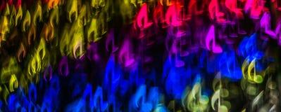 Noc zaświeca bokeh kształtującą szkotową muzykę, defocused bokeh światło, bl Zdjęcie Stock