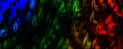 Noc zaświeca bokeh kształtującą szkotową muzykę, defocused bokeh światło, bl Fotografia Royalty Free