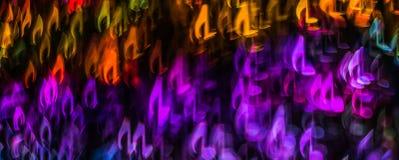 Noc zaświeca bokeh kształtującą szkotową muzykę, defocused bokeh światło, bl Obrazy Stock