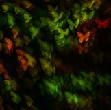 Noc zaświeca bokeh motyliego kształt, defocused bokeh światła, plama Zdjęcie Stock