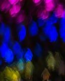 Noc zaświeca bokeh pingwinu kształt, defocused bokeh światła, blurre Fotografia Stock