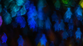 Noc zaświeca bokeh pingwinu kształt, defocused bokeh światła, blurre Obrazy Royalty Free