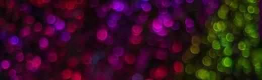 Noc zaświeca bokeh tło, defocused bokeh światła, zamazany b Obrazy Stock