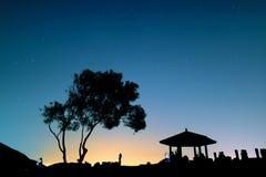 noc zadziwiająca gwiazda Obrazy Royalty Free