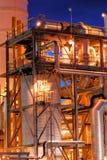 noc zakład petrochemiczny Zdjęcia Stock