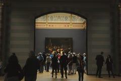 Noc zegarek Rembrandt w Rijksmuseum Fotografia Stock