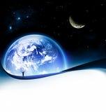 noc ziemski widok Obraz Stock
