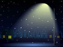 noc zima ulicznych chodzących krajobrazowi ludzie Obraz Stock