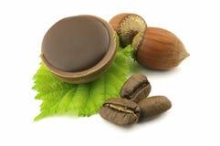 Nocciole e cioccolato Immagini Stock Libere da Diritti