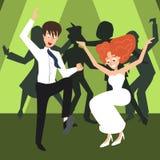 Noce, danse de personnes Photographie stock libre de droits