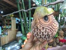 Noce di cocco che scolpisce in Phatthalung, Tailandia Immagine Stock Libera da Diritti
