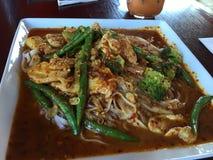 Noce di cocco deliziosa dell'alimento tailandese della tagliatella squisita Fotografia Stock