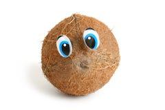 Noce di cocco divertente con gli occhi Immagine Stock Libera da Diritti