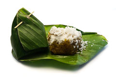 Noce di cocco dolce tailandese del riso appiccicoso del dessert Immagine Stock