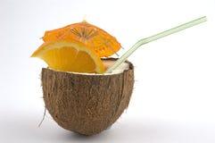 Noce di cocco drink1 Fotografie Stock Libere da Diritti