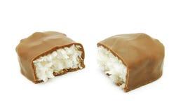 Noce di cocco e cioccolato Fotografia Stock Libera da Diritti