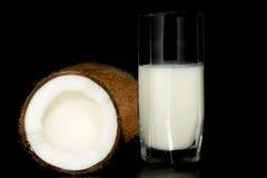 Noce di cocco e latte di noce di cocco Fotografia Stock Libera da Diritti