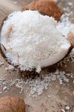 Noce di cocco grattata Immagini Stock Libere da Diritti
