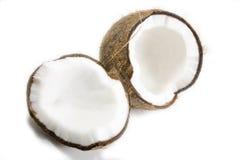 Noce di cocco rotta Immagini Stock Libere da Diritti