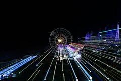 Noce zamazujący miast światła Fotografia Stock