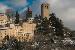 Nocera Umbra is a medieval italian village Royalty Free Stock Photography