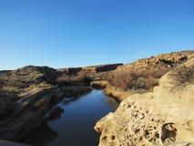 Noch Fluss in Utah-Wüste lizenzfreies stockfoto