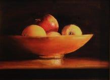 Noch Leben mit Äpfeln lizenzfreie stockbilder