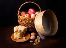 Noch Leben mit Äpfeln Stockfotos