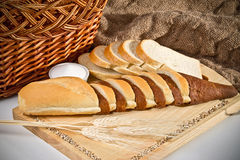 Noch Leben mit Brot Stockfoto
