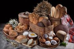 Noch Leben mit Brot Lizenzfreie Stockfotos