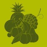 Noch Leben mit Frucht Lizenzfreies Stockfoto
