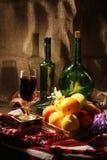 Noch Leben mit Frucht, gemalter Leuchtepinsel Lizenzfreies Stockfoto