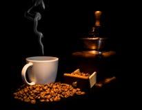 Noch Leben mit Kaffee stockbild