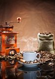 Noch Leben mit Kaffee Lizenzfreies Stockbild