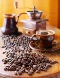 Noch Leben mit Kaffeebohnen Lizenzfreies Stockbild