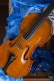 Noch Leben mit Violine Stockfoto