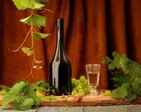 Noch Leben mit Wein Lizenzfreies Stockfoto
