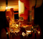 Noch Leben mit Whisky Stockbild