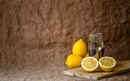 Noch Leben mit Zitronen Lizenzfreie Stockbilder