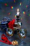 Noch-Lebensdauer auf dem Vorabend von Weihnachten Stockfotografie
