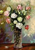Noch-Lebensdauer mit einem Vase lizenzfreie abbildung