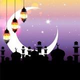 Noche árabe ilustración del vector