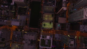 Noche aérea de Illinois Chicago almacen de metraje de vídeo