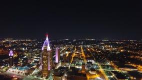 Noche aérea de la ciudad imágenes de archivo libres de regalías