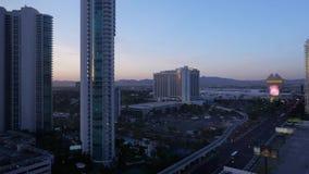 Noche al día Timelapse de paisaje de Las Vegas almacen de video