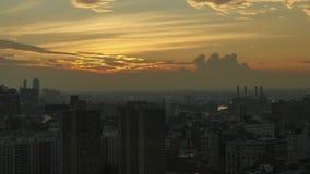 Noche al día Timelapse sobre Midtown Manhattan almacen de metraje de vídeo